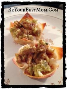 Turkey Wonton Cups:Thanksgiving Leftover Recipe