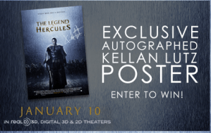 The Legend of Hercules : Kellan Lutz Autographed Poster #Giveaway #Hercules3D