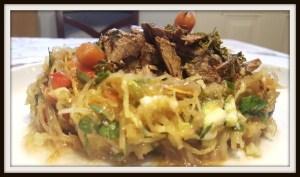 Spaghetti Squash Harvest Garden Salad #Recipe