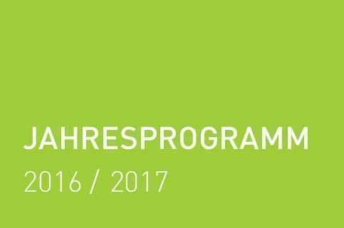 Neues Jahresprogramm 2016-2017