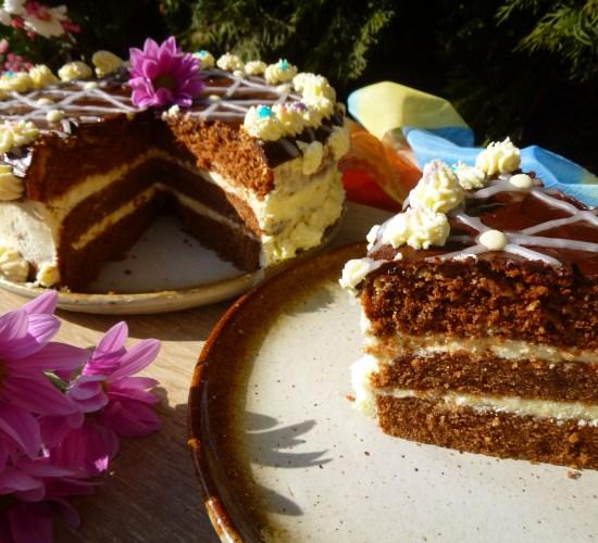Zebrový sacher dort