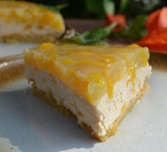 Broskvový cheesecake