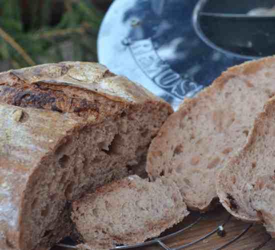 Kváskovo-čokoládový chleba z remosky