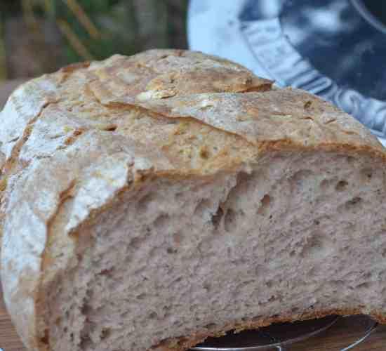 Kváskovo – ořechový chleba z remosky