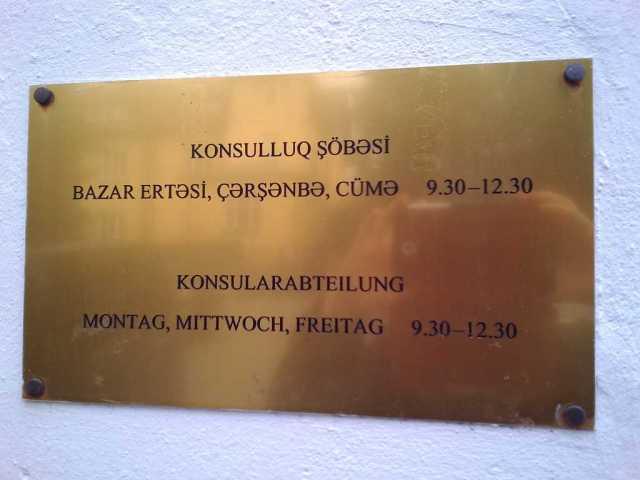 Azerbaijan embassy Vienna working hours