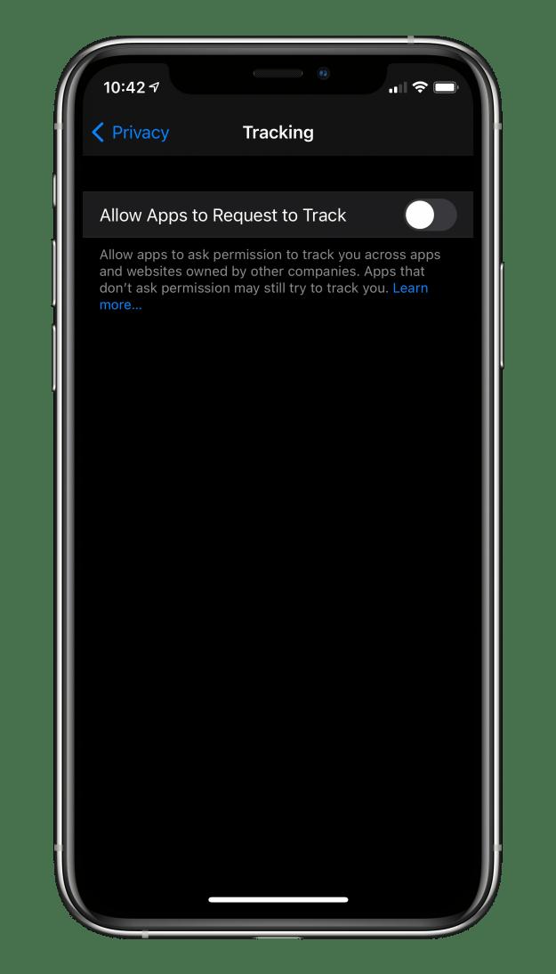 Pozwalaj aplikacjom żądać możliwości śledzenia