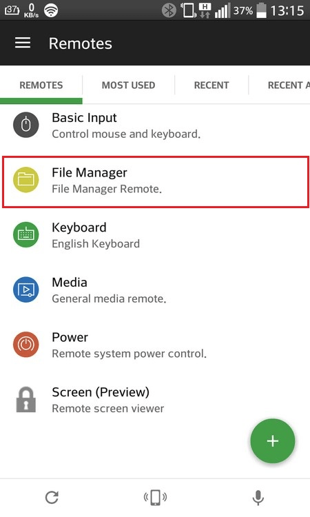 Раздел «File Manager»