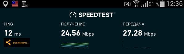 Тест скорости интернета на планшете
