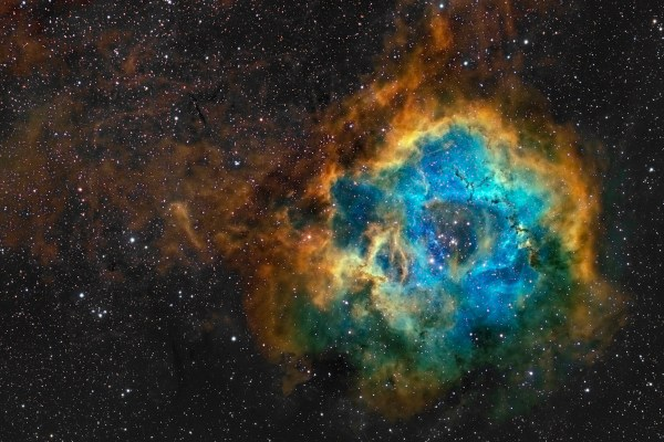 NGC 2237 The Rosette Nebula in Mapped Color