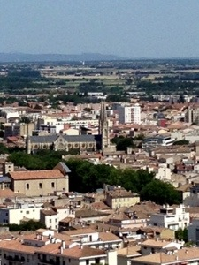 View of Nimes France
