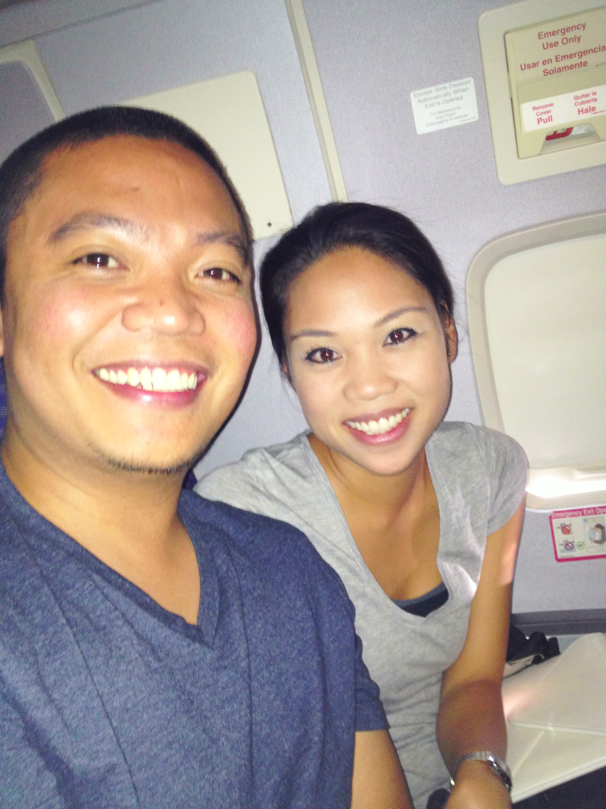 Couple from California beside me on flight to France in June