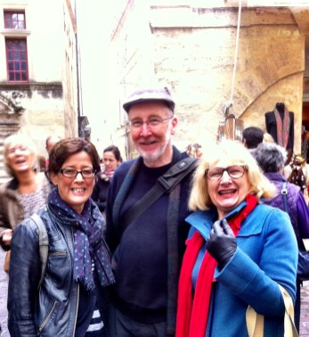 Maria and Steve from Australia (with Nandine) in Uzes