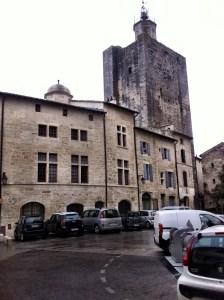 Apartment entrance at the Place de Duche