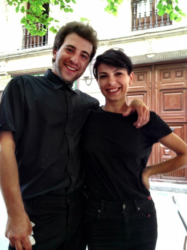 Servers at Tapis Cafe in Barcelona