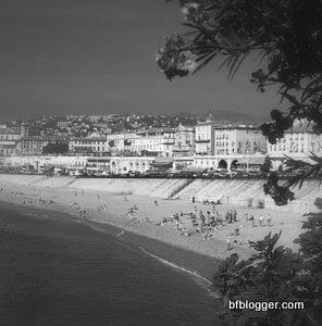 Beach in Nice 1960s