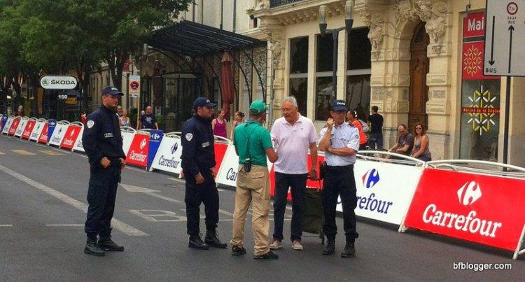 Preparing for the Tour de France in Nimes