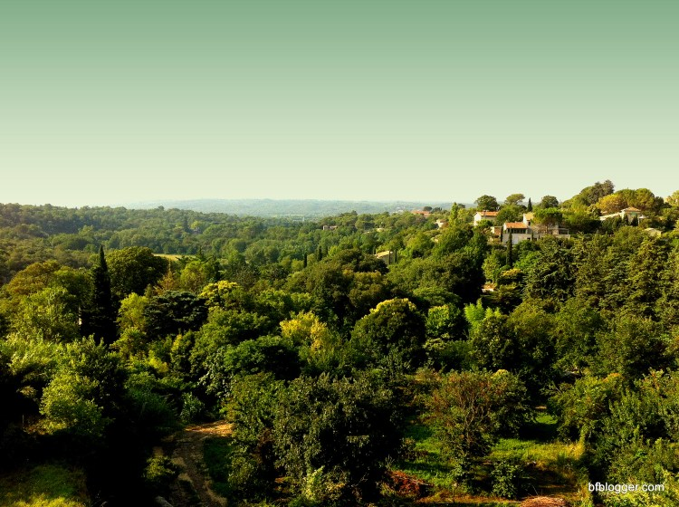 Vallee de l'Eure from the cathedral in Uzes