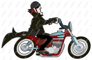 Man Riding Motorcycle Clip Art