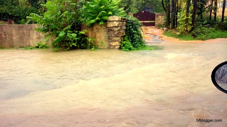 Flood waters outside Uzes