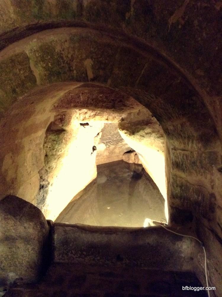 Roman subterrerean well Uzes France