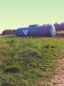 Abandoned gas tank