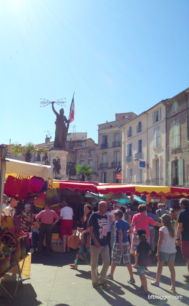 """Marianne"", a symbol of the French nation, standing in Pezenas"