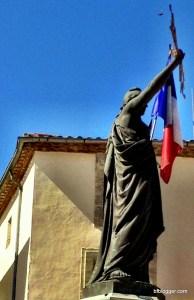 Statue of Marianne in Pezenas
