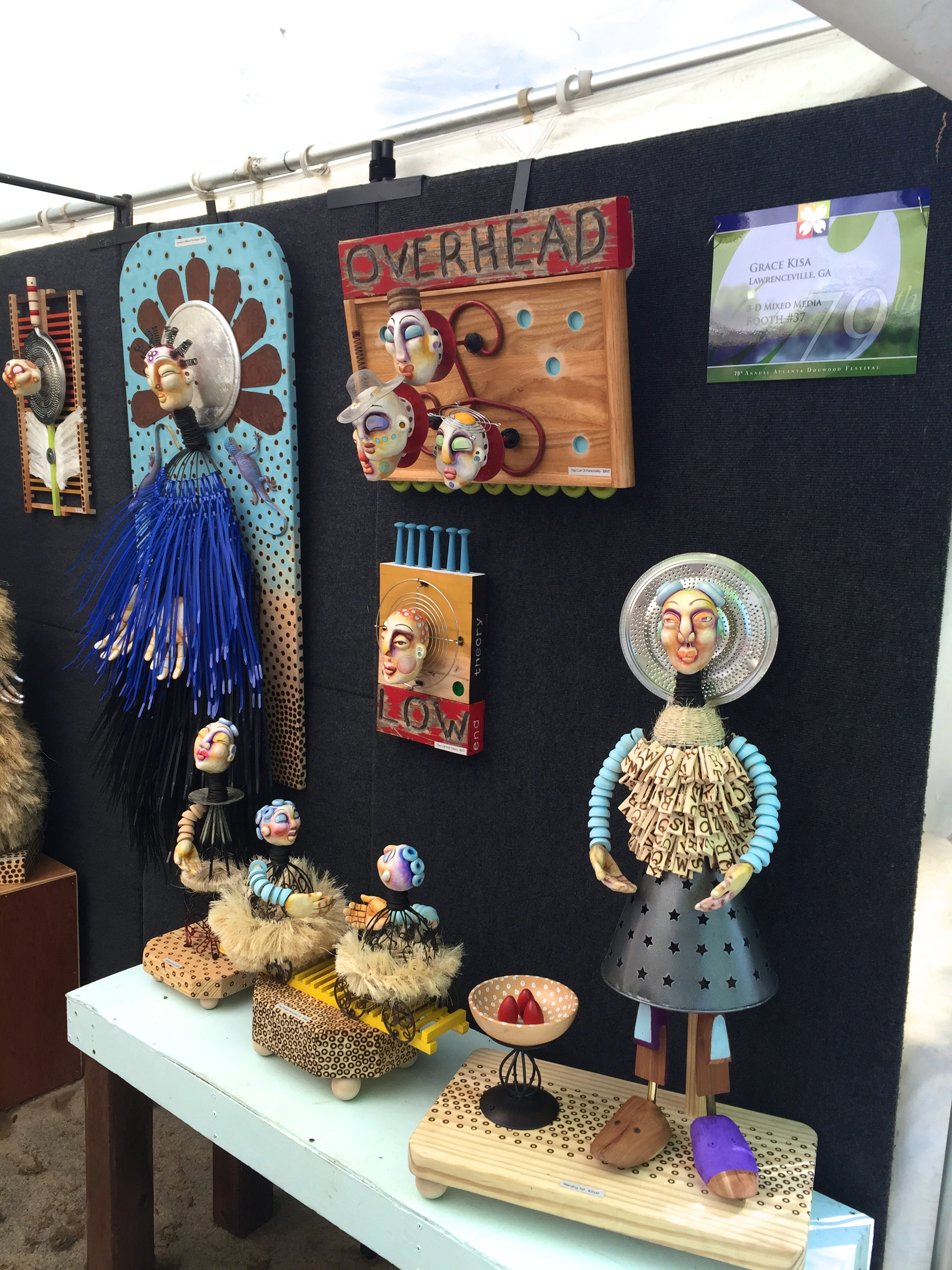 Handmade pottery and clay figures