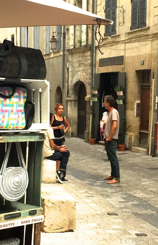 Store owners in Uzes