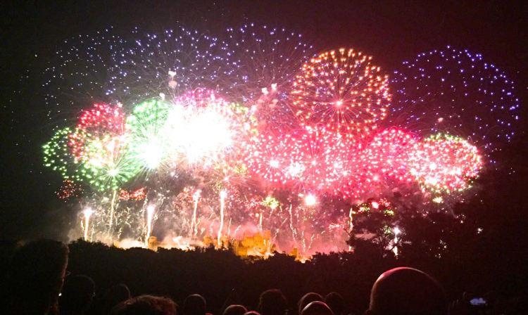 Bastille Day Fireworks in Carcassonne