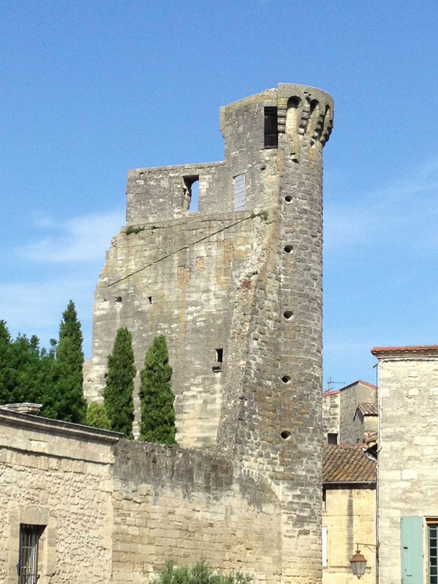 Remnants of the ancient guard wall Uzes