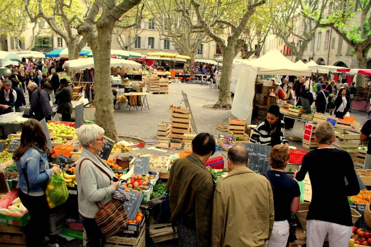 Saturday Market in Place aux Herbes