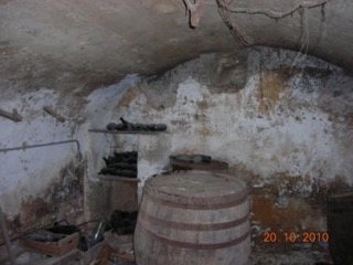 The wine room at Mas d'Augustine before renovation