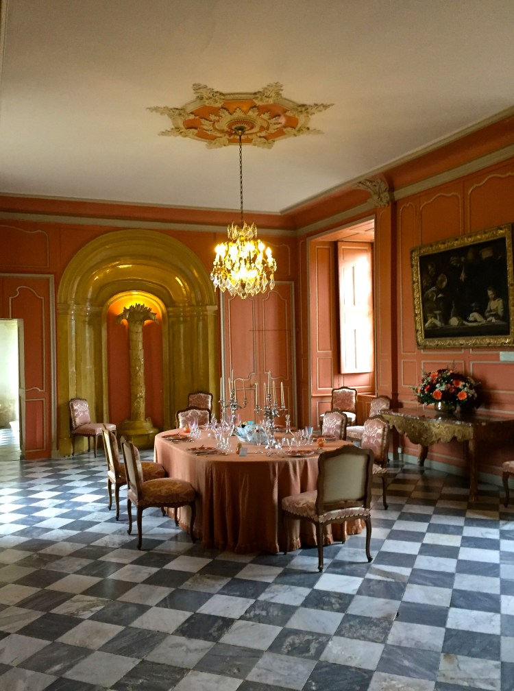 Dining room at Château Villandry
