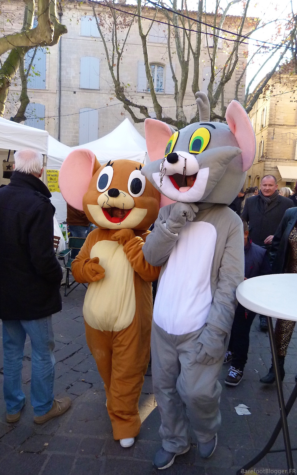 Silly mice in Uzes, France
