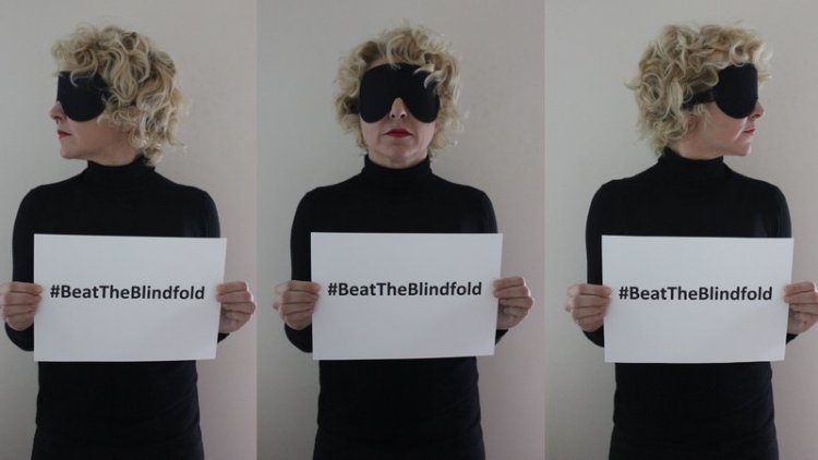 "Verity Smith's social media ""Beat the Blindfold"" campaign"