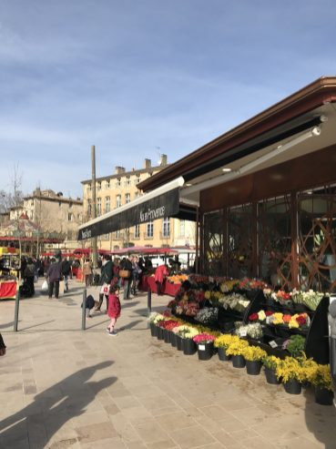 Flower-filled markets