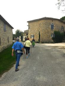 Walking through small villages