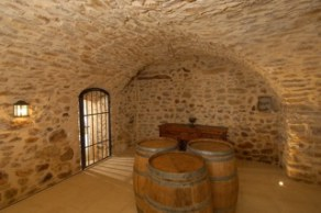 Wine room at Mas d'Augustine after renovation