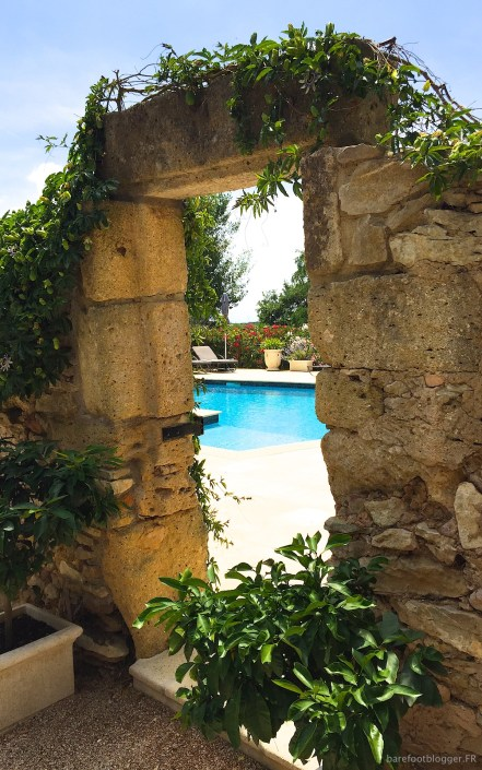 Mas d'Augustine pool area and garden