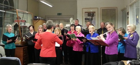 BFCS in Harmony singing carols at the Pen Museum.