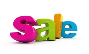 Sale word single from three-dimensional letters.