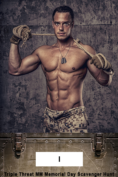 strong athletic man with naked body in military pants working gloves and rope on concrete wall