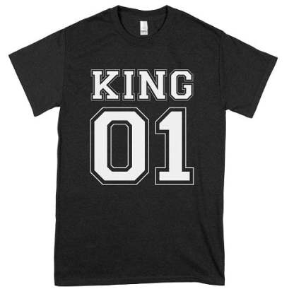 King 01 Friends T-Shirts For Boy Team