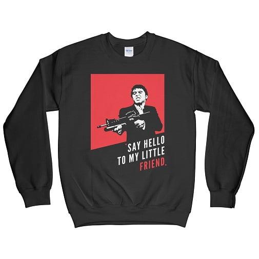 Say Hello To My Little Friend Baseball Tee - Bff Sweatshirt