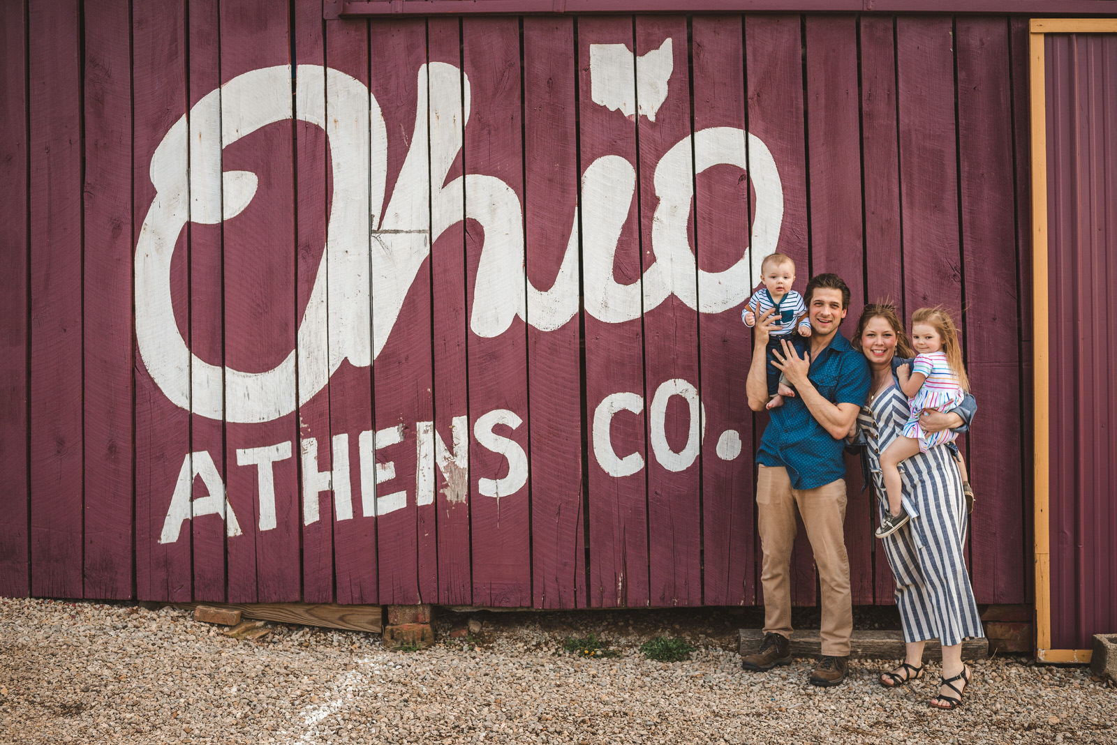 Family photography session in southeast ohio