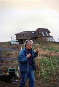 Anne Priest at home farm in New York State