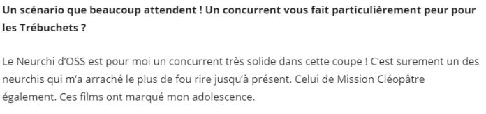 Avis OSS - Clement Franch