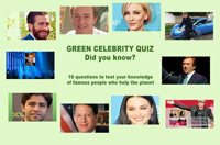 Who's star shines greenest? Take the quiz & test your green celebrity IQ