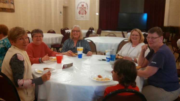 Lunch is shared after the lesson. Wonderful fellowship!